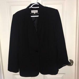 Calvin Klein Suit Coat Jacket Black Size 10